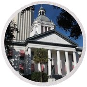 Old State Capitol - Florida Round Beach Towel