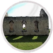 Old Stone Church 3 Round Beach Towel