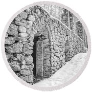 Old Stone Ruins  Round Beach Towel