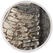 Old Style Gutter Round Beach Towel