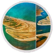Old Style Topsail Round Beach Towel