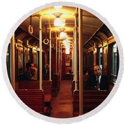 Old Subway In Buenos Aires Round Beach Towel