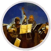 Old Time Music Round Beach Towel