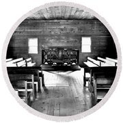 Old Time Religion -- Cades Cove Primitive Baptist Church Round Beach Towel by Stephen Stookey