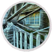 Old Time Wheels Round Beach Towel