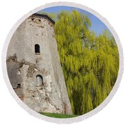 Old Tower Round Beach Towel