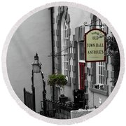 Old Town Hall Round Beach Towel