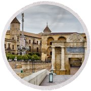 Old Town Of Cordoba In Spain Round Beach Towel