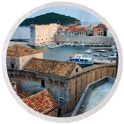 Old Town Of Dubrovnik Round Beach Towel