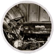 Old Tractor - Series Xv Round Beach Towel