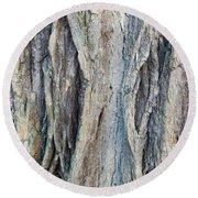 Old Tree Wrinkles Round Beach Towel