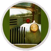 Old Truck Abstract Round Beach Towel