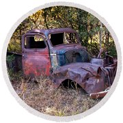 Old Truck - Purtis Creek Round Beach Towel