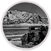 Old Truck Round Beach Towel by Robert Bales