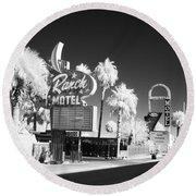 Old Vegas Round Beach Towel