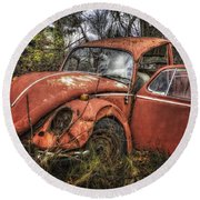 Old Vw Round Beach Towel