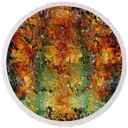 Old Wall By Rafi Talby Round Beach Towel
