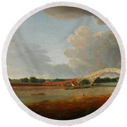 Old Walton Bridge Round Beach Towel