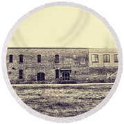 Old Warehouse Round Beach Towel