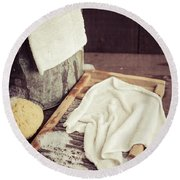 Old Washboard Round Beach Towel