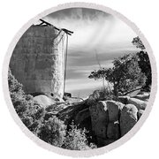 Old Water Tower Round Beach Towel