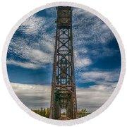 Old Welland Lift Bridge 3d07057hp Round Beach Towel