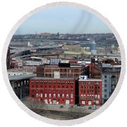 Old West Bottoms Kcmo Round Beach Towel