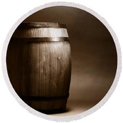 Old Whisky Barrel Round Beach Towel