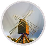 Old Wind Mill Round Beach Towel