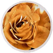 Old World Roses  Round Beach Towel