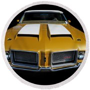 Oldsmobile 442 Round Beach Towel
