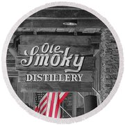 Ole Smoky Distillery Round Beach Towel by Dan Sproul