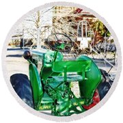 Oliver 60 Tractor In Dell Round Beach Towel