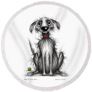 Ollie The Dog Round Beach Towel