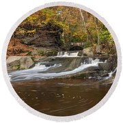 Olmstead Falls Round Beach Towel