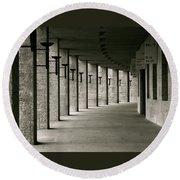 Olympiastadion Berlin Corridor Round Beach Towel