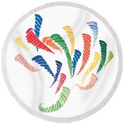 Olympic Fire Round Beach Towel