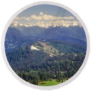 Olympic National Park Landscape Round Beach Towel