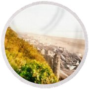 Olympic Peninsula Driftwood Round Beach Towel