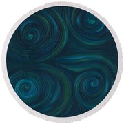 Om Round Beach Towel