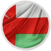 Oman Flag Round Beach Towel