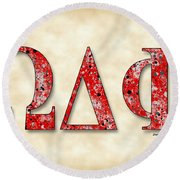 Omega Delta Phi - Parchment Round Beach Towel