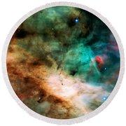 Omega Swan Nebula 2 Round Beach Towel