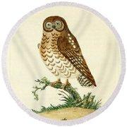 Ominous Owl Round Beach Towel