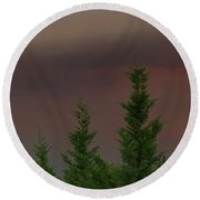 Ominous Smoke Cloud Covers The Rogue Valley Round Beach Towel