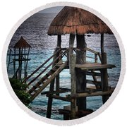 On 2 -ready-hut Hut Round Beach Towel