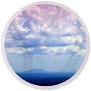On A Clear Day Round Beach Towel by Karen Wiles