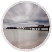 On A Stormy Day Round Beach Towel