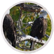 On Alert Round Beach Towel