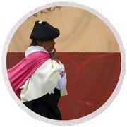 On An Errand In Otavalo Round Beach Towel